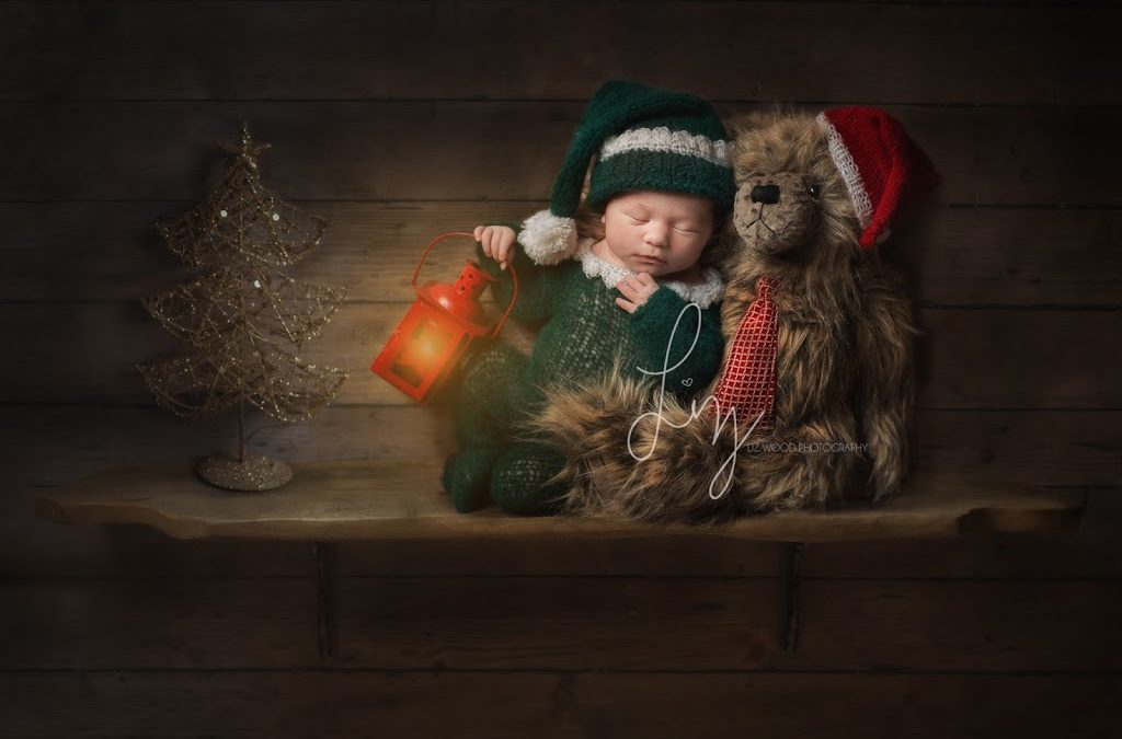 Little Elves on the shelves, safe newborn photography with beautifully cute Christmas themes.