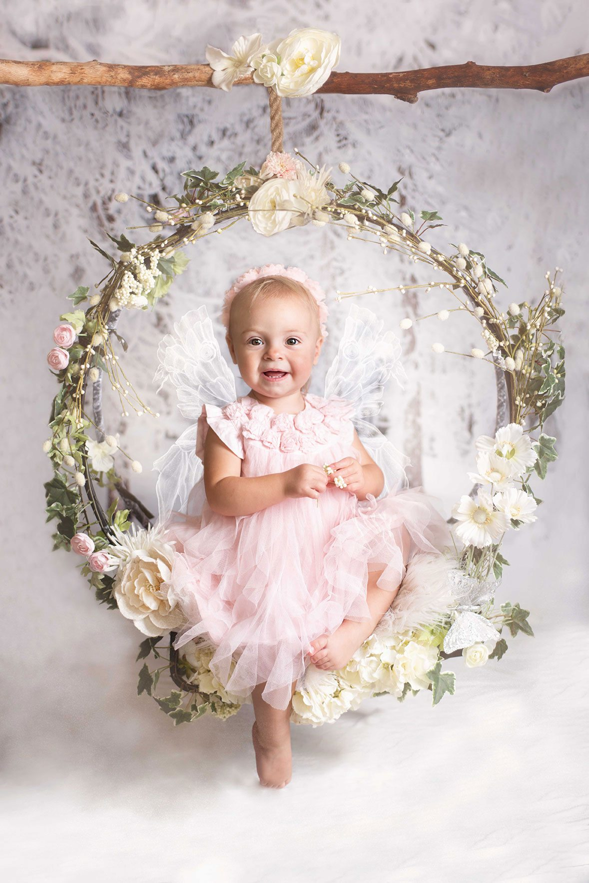 Snow fairy photo of little girl Essex Photographer