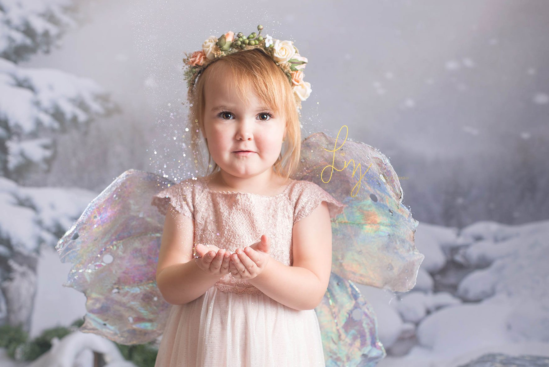 Snow fairy photoshoots in Suffolk and Essex