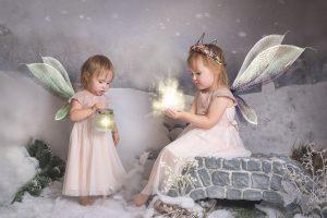 Christmas photoshoot - fairy child photography