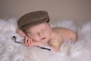 Essex newborn photographer Golf inspired newborn photo