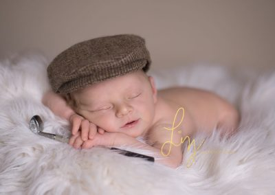 Golf inspired newborn shoot - Essex newborn photographer