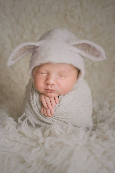 Essex baby photographer - baby safely posed newborn shoot