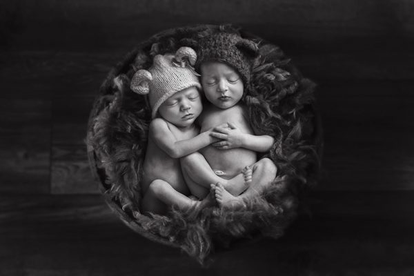 Seeing double – Essex Newborn Twin Photoshoot