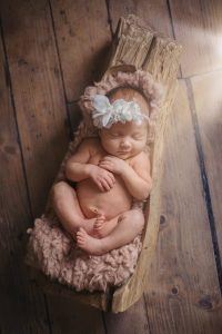 Baby girl newborn shoot Essex