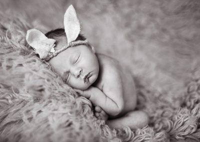 Halstead Essex baby with bunny ears - Essex Newborn Photographer