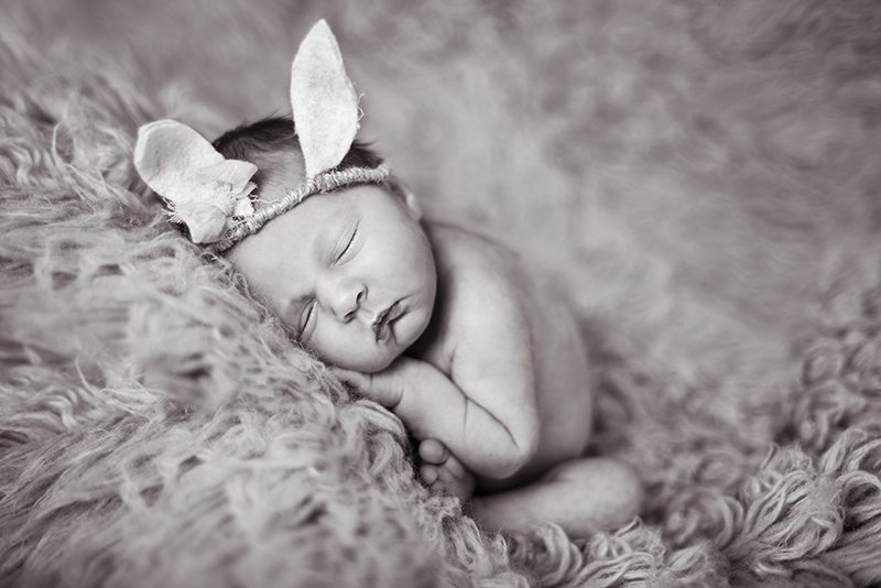 Halstead Essex baby with bunny ears - Essex Newborn Photographer