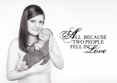 Mum holding her baby boy - Witham Essex Newborn Photographer