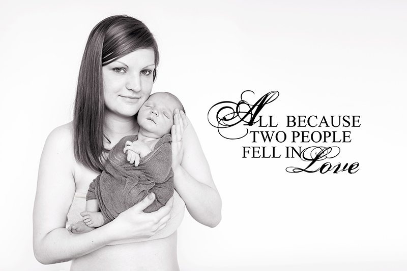 Mum holding her baby boy - Witham Essex Newborn Photographer