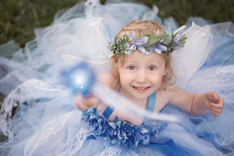 Child Fairy Photographer Essex & Suffolk - the blue ice fairy