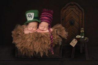 baby photography Essex - Newborn photoshoot Alice in Wonderland