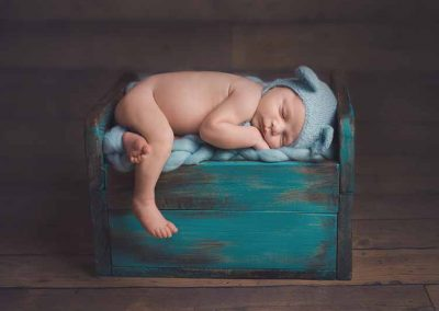 Essex newborn baby photos - baby on bed