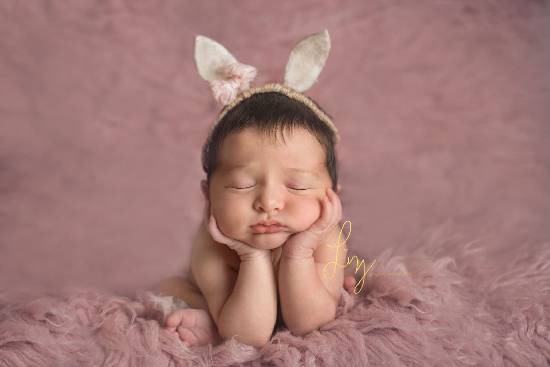 Essex baby photography - safe baby posing