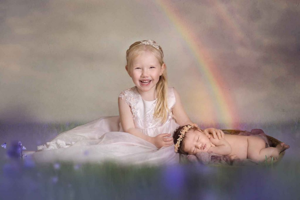 Over the rainbow newborn and child photoshoot Essex Child Photographer