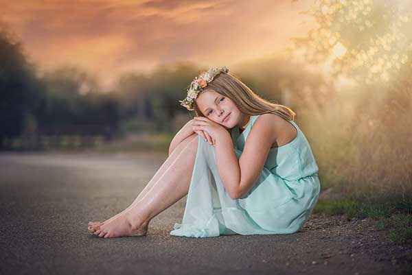 Fine art Children's Photographer sunset photoshoots Essex
