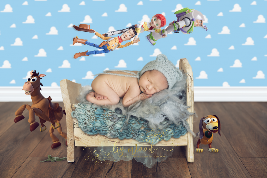 Hadleigh Suffolk - newborn baby photographer - Toy Story inspired newborn photoshoot