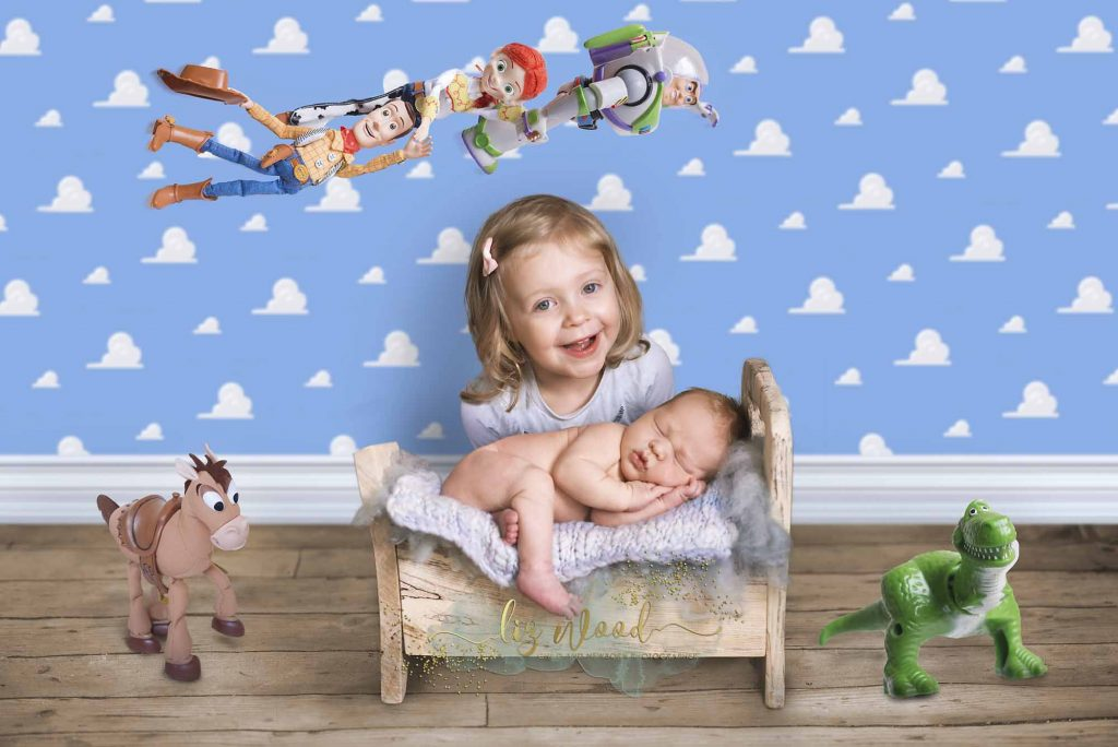 Colchester Essex Newborn Photographer - Toy Story inspired newborn photoshoot