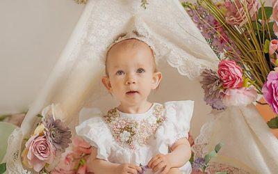 Beautiful boho floral cake smash – Polstead Suffolk child photographer